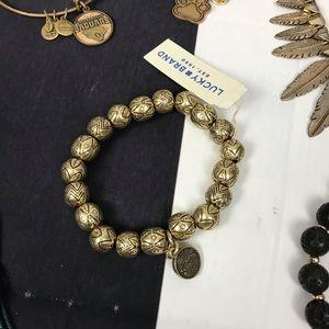 Gold Beaded Tribal Bracelet